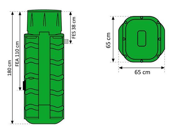 Technirel dimensions h180